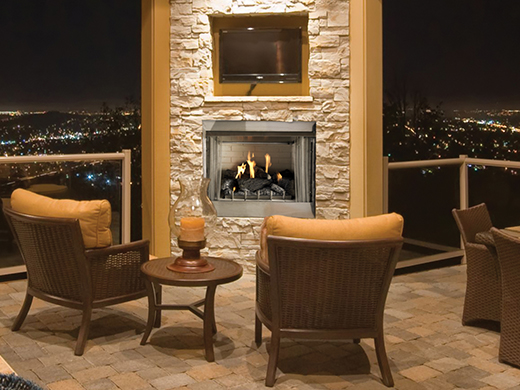 """36"""" Outdoor Gas Fireplace"""