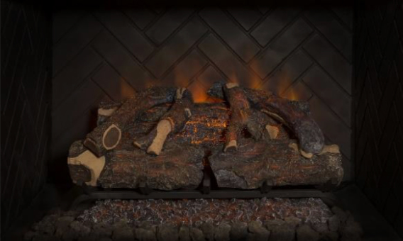 Sunset Charred Oak Electric Log Set